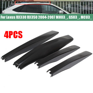For 2004-2007 Lexus RX330 RX350 Roof Rack Rail End Cover Cap Black ABS Shell x4