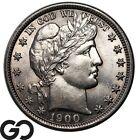 1900 Barber Half Dollar Tough This Nice Lustrous Gem BU !