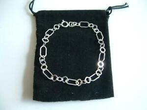925 Sterling Silver fancy Bracelet 19cm 7.5inches new in gift bag