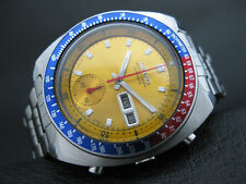 Vintage Seiko 6139-6002 Automatic Chronograph Mens Watch PEPSI