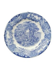 Blue China Plate heathcote blue vintage antique shabby chic saucer OTHERS AVAIL