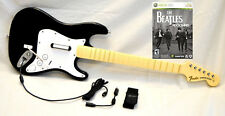 NEW OEM Rock Band 1 XBox 360 Wired Fender Guitar with BEATLES Video Game Kit Set