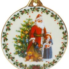Reutter Collectable Porcelain Father Christmas Tree Ornament