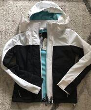 Women's Superdry Japan Multi Zip WINDCHEATER Jacket Black and White XS NWT