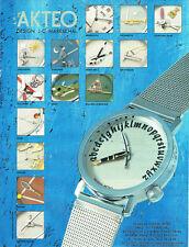 Publicité Advertising 028  1996  montre Akteo Design J.C Mareschal
