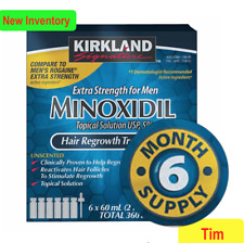 Kirkland Minoxidil 5% Extra Strength Men Hair Regrowth Solution 6 Month Supply