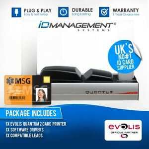 Evolis Quantum 2 Dual-Sided ID Card Printer & Encoder • Free UK Delivery