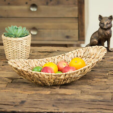 50cm Water Hyacinth Fruit Bowl Bread Basket Storage Dish Dining Table Pot Pourri 3 X Bowls