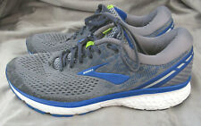 Brooks Ghost 11 Men's Size 12 Wide Grey Blue Silver Athletic Road Running Shoes