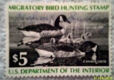 1976 Scott RW43 U. S. Federal $5. Canada Geese one new duck stamp at face value
