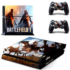 Sony PS4 Console and Controller Skins / Decal -- Battlefield I Design 3 (#0611)