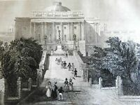 Capitol Building Washington D.C. Grand Staircase 1839 scarce French print