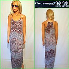 ATMOSPHERE UK12 STRETCH STRAPPY MAXI BODYCON SUMMER DRESS #B4427