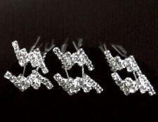 8 Pcs CRYSTAL RHINESTONE WEDDING BRIDAL Bridesmaids Gifts HAIR PINS #32