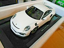 PORSCHE 911 991 GT3 RS 2015 weiss white black wheels Resin Spark  1:18