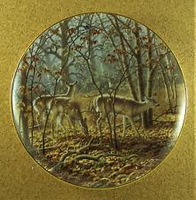Autumn Encounter Plate Whitetail Splendor Larry Zach Buck & Does Danbury Mint
