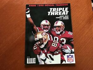 """San Francisco 49er's Official 1998 Yearbook. """"Triple Threat"""" Rice, Owens, Stokes"""