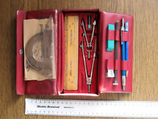 1960S ACADEMIC HELIX X-1100 DRAWING SET IN ORIGINAL BURGUNDY COLOURED BOX