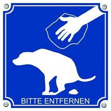 Hinweisschild - Anti-Kackschild - gegen Hundekot - bitte entfernen