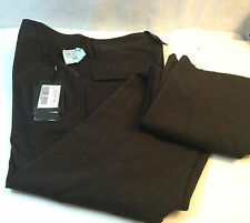 Dolce & Gabbana Italy Brown 100% Cotton Flat Front Casual Pants Size L 46 $1000