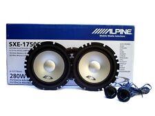 "NEW ALPINE SXE-1750S 6-1/2"" 6.5'' 2-WAY CAR COMPONENT SPEAKER PAIR SXE1750S 280W"