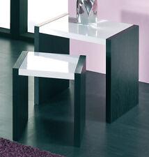 2er Satztisch Beistelltisch Tisch Blumentisch Mod.K491 Schwarz Weiß Hochglanz