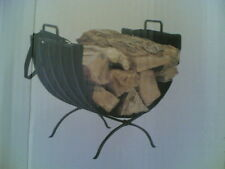"""Nib ~ 20"""" Fireplace Metal Log Rack Caddy Holder with Canvas Tote"""