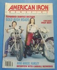 AMERICAN IRON MAGAZINE JULY/1990 NINE WHEELED HARLEY ? CHICAGO SWAP MEET