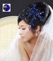 Women Girl Dance Wedding crystal Party Hair Headpiece Fascinator accessory PROP