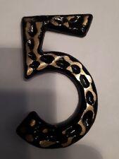 Numéro de maison 5 porte portail plaque acier neuf à visser