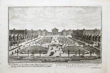 1720 München Nymphenburg Gartenseite Kupferstich-Ansicht Corvinus Disel