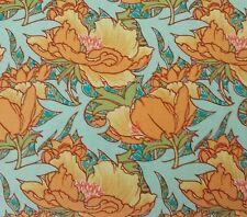 """Vintage"" Florals BTY Victoria & Albert Rowan Flourish Orange Yellow Teal Aqua"