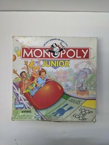 Monopoly Jr Junior Board Game Hasbro Parker Brothers 1999 Edition INCOMPLETE