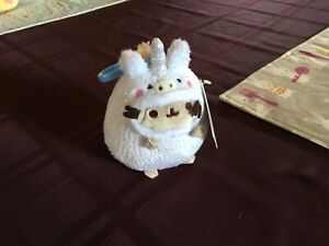 """Pusheen Unicorn, Backpack Clip-On 5"""" Plush Claire's Exclusive NWT"""