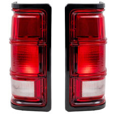 New Pair Set Taillight Lens w/ Black Bezel for Dodge Ram Truck Dakota Ramcharger