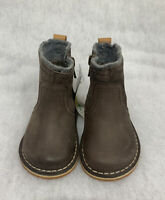 Girls Clarks Boots Comet Frost Inf Brown Leather Size 4F
