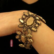 Bracelet Bague Doré Baroque Metal Art Deco Punk Retro Vintage Original CT1