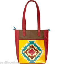 Santa Fe Zip Top Leather Tote from ILI New York