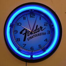 FENDER STRATOCASTER GUITAR neon wall clock