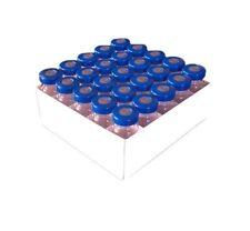 20ml Sterile Empty Clear Vials 25pk Blue