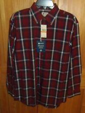HAGGAR - MEN - DRESS SHIRT - RED PLAID - SIZE SMALL  (PK-41-5)