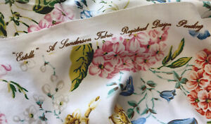 Sanderson Fabric Vintage  'Estelle' White Fruit&Flower FQ Design Pending 56x51cm