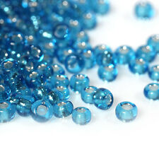 50g Aqua (Blue/Green) Silver Lined Seed Beads Glass 2mm Size 11/0 J09089XA