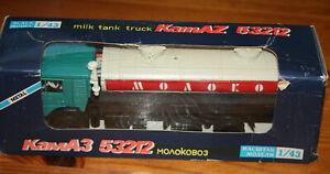 KAMAZ-53212 МОЛОКО - MILK TANK TRUCK - USSR 1987 Elecon 1/43 w/ original box