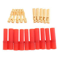 5Pairs HXT 4mm Banana Connector Bullet Plug for RC Car Heli EC2 Lipo Battery