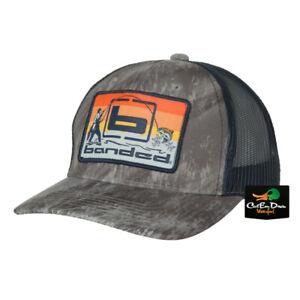 NEW BANDED PERFORMANCE GEAR TRUCKER CAP - SUNSET FISHING LOGO HAT -