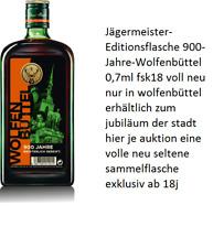 Jägermeister Editionsflasche 900-Jahre-Wolfenbüttel 0,7 auf 900stück limitiert