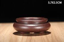 Round Chinese Yixing Zisha Mame Bonsai Pot 5.7x5.7x2.5cm