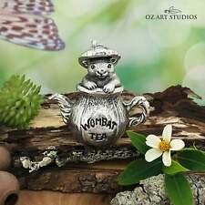 Wombat Tea Australian Souvenir Figurine Australiana Gift, Australian Made Pewter
