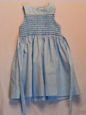 Jacadi Blue Smocked Sleeveless Dress, 4